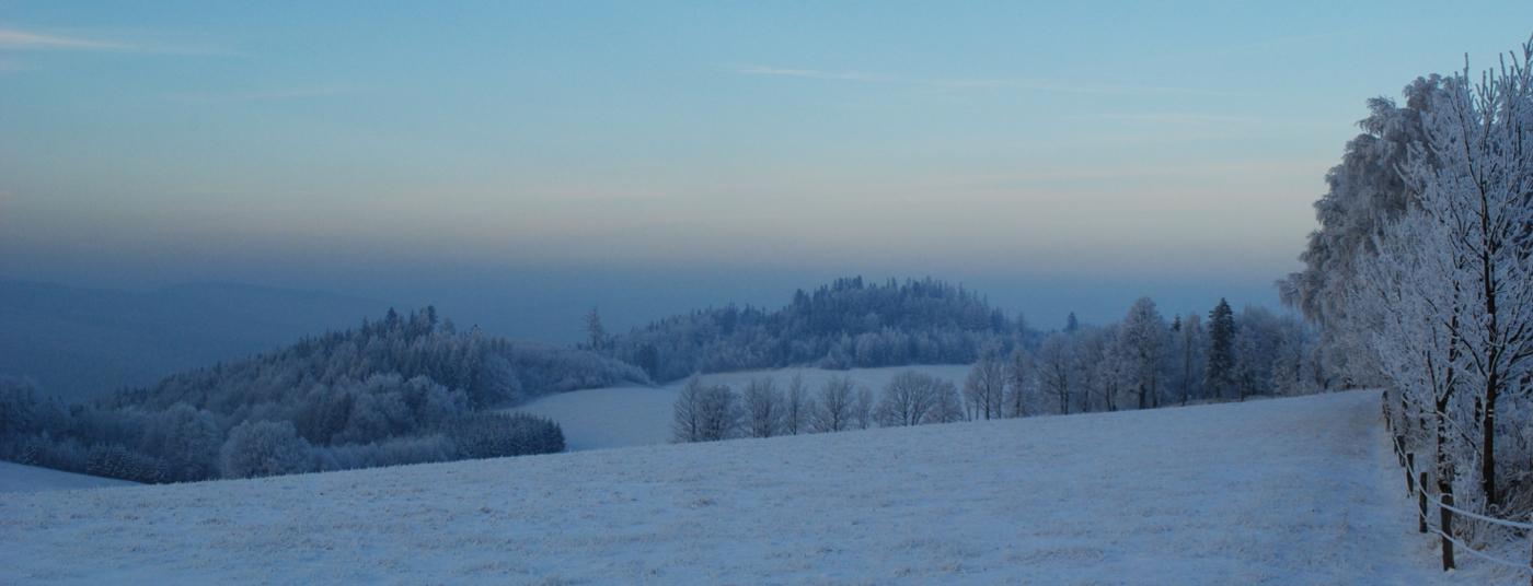 Zima v Rychlebských horách
