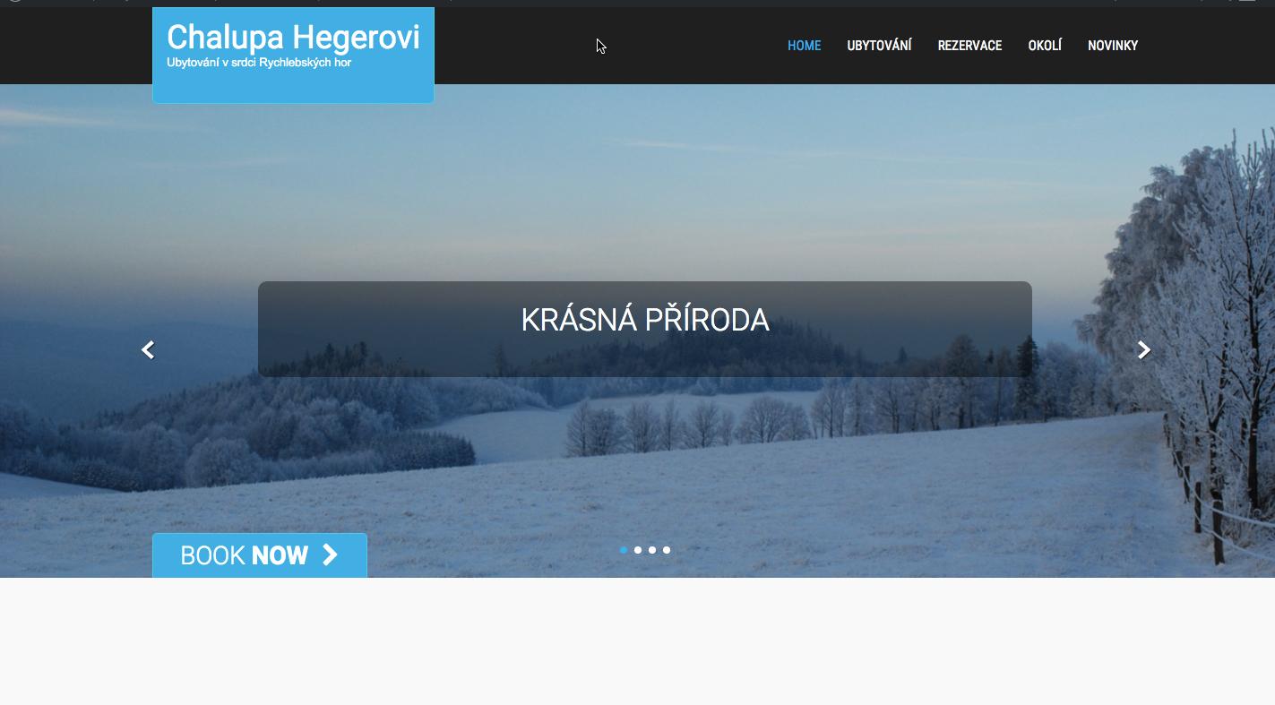 web chalupa Hegerovi